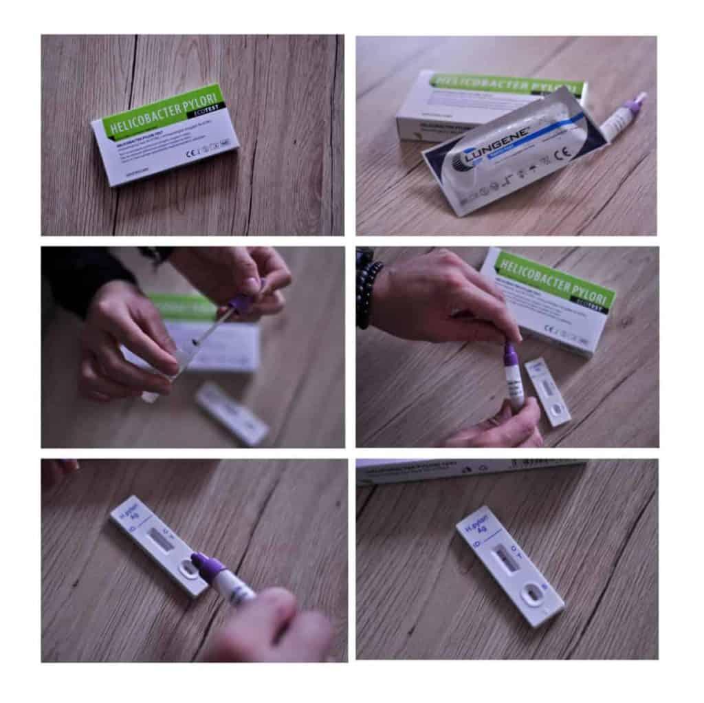 Helikobakter test - návod