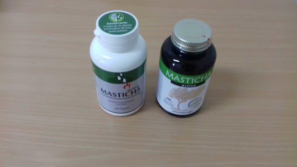 Porovnanie nového a staršieho balenia Masticha Active