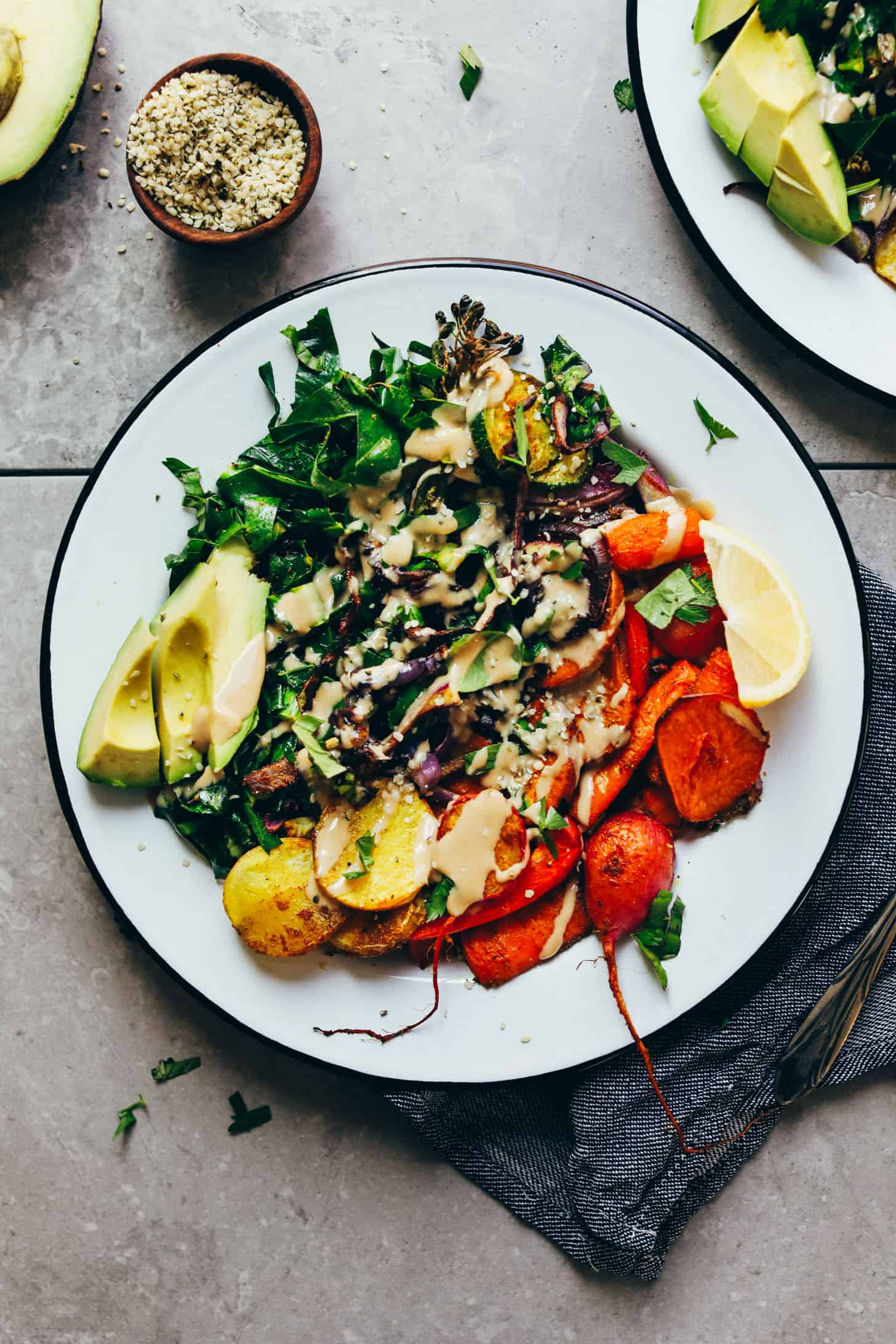 Dúhový tanier s pečenou zeleninou