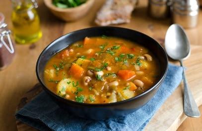 Lahodná fazuľová polievka