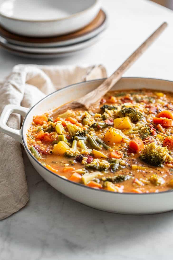 Domáca zeleninová polievka
